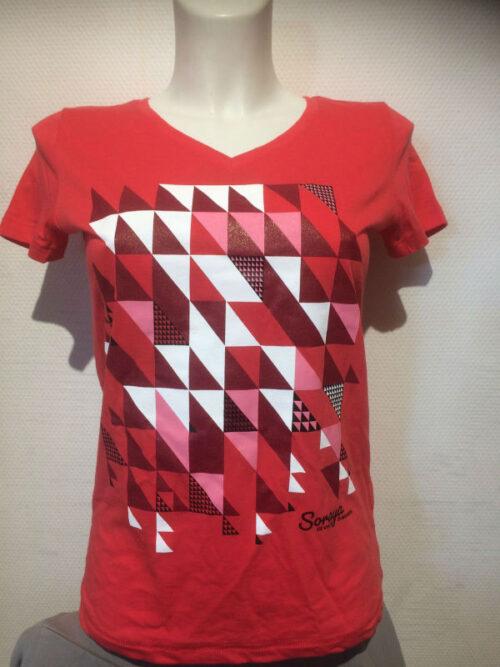 Soraya t-shirt koraalrood