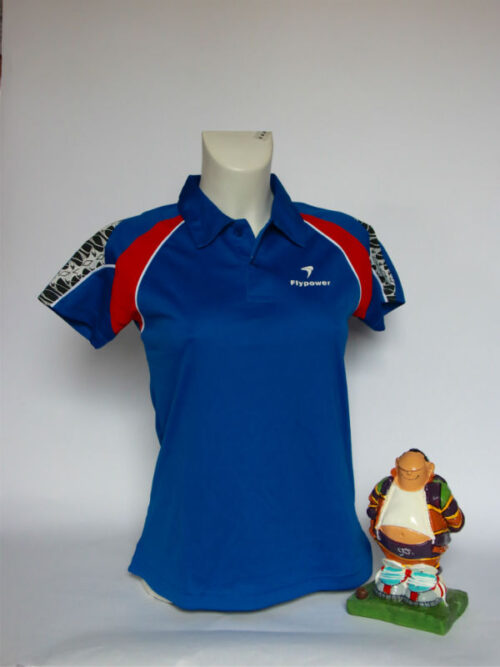 Flypower ladies polo blauw
