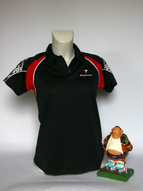 Flypower ladies polo zwart