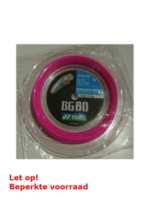 Yonex BG 80 Pink