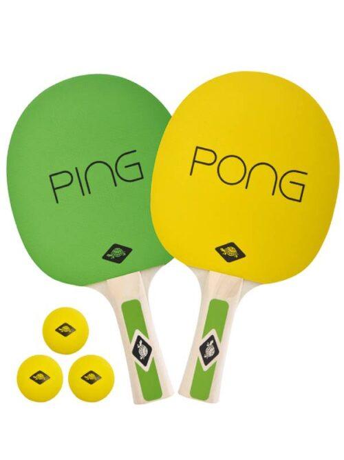 SCHILDKROT FUN PING PONG SET 2PCS 3BALL BAG